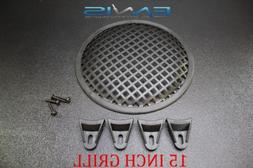 15 INCH STEEL SPEAKER SUB SUBWOOFER GRILL MESH COVER W/ CLI
