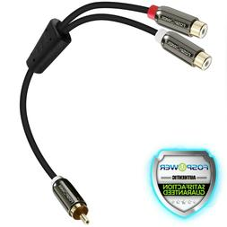 FosPower 8in 1 RCA Male to 2 RCA Female Audio Adapter Cable