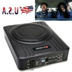 10'' 600W Under-Seat Car Subwoofer Powered Bass Amplifier Sl