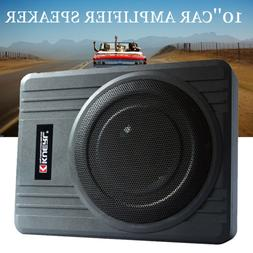 10'' 600W Under-Seat Car Subwoofer Powered Bass Amplifier Sl