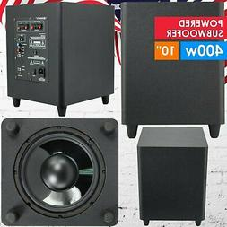 """Gravity 10"""" Down Fire Active Powered Subwoofer Home Theater"""