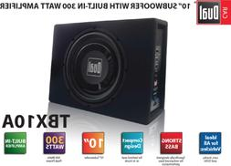 10 In. Powered Car Subwoofer High Performance with Built In