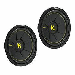 Kicker 10 Inch CompC 500 Watt 4 Ohm Single Voice Coil SVC Su
