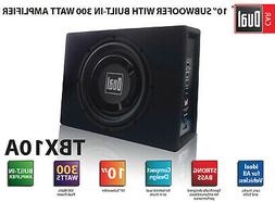 """10"""" Subwoofer Dual Electronics TBX10A Enclosed Built-in Amp"""