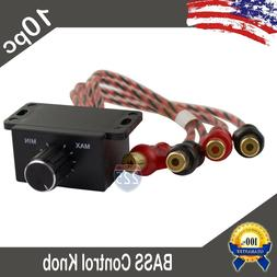 10 Universal Car Audio Amplifier Bass Boost RCA Level Remote