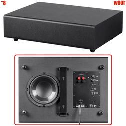 "100W 8"" Active Powered Subwoofer Home Theater Stereo Bass Sp"