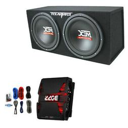 "MTX 12"" 1200W Subwoofer Box Enclosure and Boss Phantom 1500W"