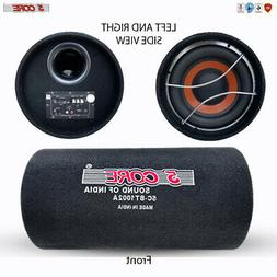 "5 Core 10"" 1250W PMPO Powered Active Car Subwoofer Bass Tube"