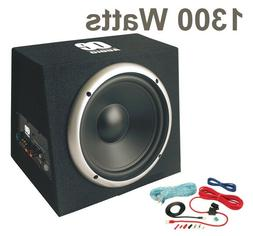 """12"""" Car subwoofer with amp active amplified boom bass box 13"""