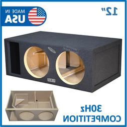 """12"""" dual Competition Ported Sub Box Vented subwoofer Enclosu"""