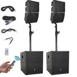 PRORECK 12-Inch 3000W Bluetooth PA Speaker System Line Array