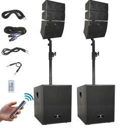 PRORECK 12-Inch 4000W Bluetooth PA Speaker System Line Array