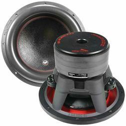 """Audiopipe 12"""" Quad Stack, 2200 W Subwoofer Composite Cone 11"""
