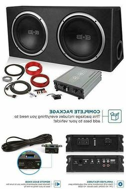 Belva 1200 watt Complete Car Subwoofer Package Includes Two