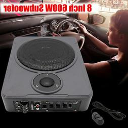 """12v 8"""" 600w Slim Under-Seat Active Powered Car/Truck Subwoof"""
