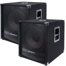 """Sound Town 15"""" 3200W Powered Subwoofers with DSP, PA Pro Aud"""