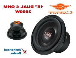 15 Inch 3000W Car Audio Bass Big Subwoofer Dual 4 Ohm Cadenc