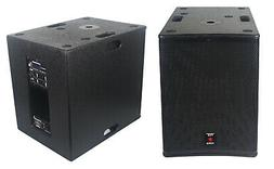 STARAUDIO 15 Inch Powered 4500W Wood PA Subwoofer DSP Stage