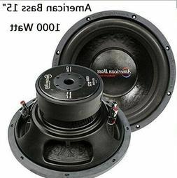 "15"" Subwoofer Car Audio Speaker American Bass 1000W Max 4Ohm"