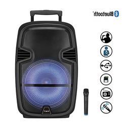 "15"" Woofer Trolley Speaker Wireless Portable Horn Subwoofer"