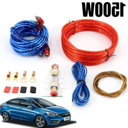 1500w 8GA Car Amplifier Wiring Kit Audio Subwoofer AMP RCA P