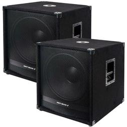 "Sound Town 18"" 4000W Powered Subwoofers with DSP, PA Pro Aud"