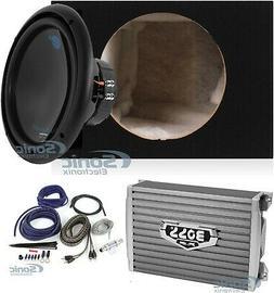 Planet Audio 1800W Subwoofer + Boss 1500W Amplifier w Amp Ki