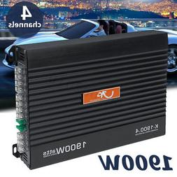 1900W Car Audio Power Stereo Amplifier Subwoofer Amp 4 Chann