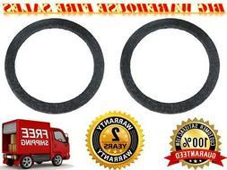 """2 12"""" Gray Carpeted MDF Car Stereo Speaker Woofer Subwoofer"""
