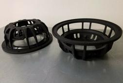 2 10 inch subwoofer frames with 8 inch spider adapters dc re