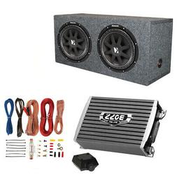 2) Kicker 10C124 600 Watt 12 Subwoofers Sealed Box Enclosure