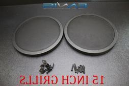 15 INCH STEEL SPEAKER SUB SUBWOOFER GRILL FINE MESH W/ CLIP
