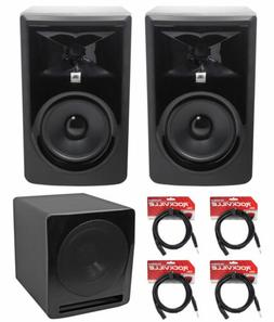 "JBL 306P MkII 6"" 2-Way Powered Studio Monitors Speakers+10"""