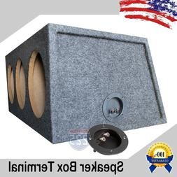 """4"""" SUBWOOFER SPEAKER ROUND BOX TERMINAL SCREW CUP CONNECTOR"""