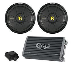 """2) New Kicker 44CWCS104 10"""" 1000W Car Audio Power Subwoofers"""