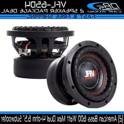 "2 American Bass 6.5"" Car Audio Subwoofer Speaker Dual 4-ohm"