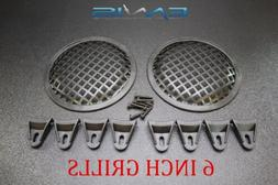 6 INCH STEEL SPEAKER SUB SUBWOOFER GRILL MESH COVER W/ CLIP