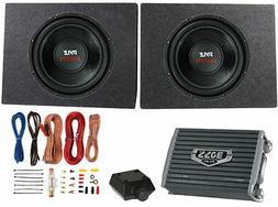"""2) PYLE 12"""" 3200W Car Subwoofers PLPW12D +2 Ch Amplifier +Am"""