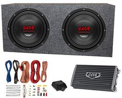 "2) Boss CH10DVC 10"" 3000W Car Subwoofers Subs+Sealed Box Enc"