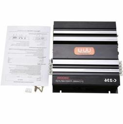 2 Channel 3800 Watt 12V Aluminum Car Stereo Audio Power Ampl