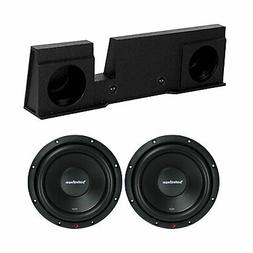 QPower 2 Hole 10 Inch Subwoofer Box and Rockford Fosgate R2D