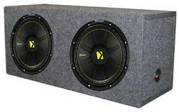 "2) New Kicker 44CWCS124 12"" 1200W Car Subwoofers + Dual Seal"