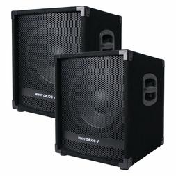 """Sound Town 2-Pack 12"""" 2800W Powered PA DJ Subwoofer w/ 3"""" VC"""
