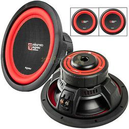 "2 Pack 12"" Dual 2 Ohm Subwoofer 1300 Watts Car Audio Sub DVC"