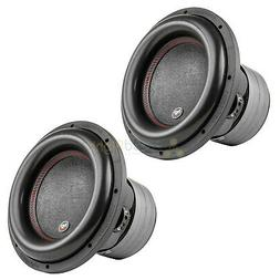 """2 Pack 12"""" Subwoofers Dual 2 Ohm 1100 Watts RMS Car Audiopip"""