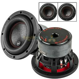 2 pack 6 5 subwoofers dual 4
