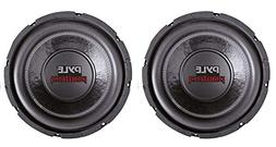 "2) PYLE PLPW6D 6"" 1200W Dual Voice Coil 4-Ohm Car Audio Subw"