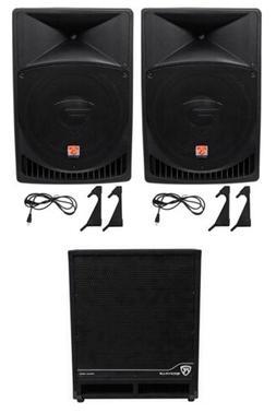 "Rockville RPG15 15"" Powered 1000 Watt DJ PA Speaker+18"" Act"