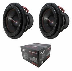 "2 x 12"" Subwoofer 4000W 3"" 4 Ohm DVC Pro Car Audio Bass Amer"