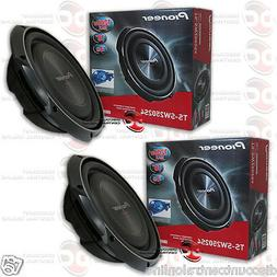 "2 x PIONEER TS-SW2502S4 10"" CAR SHALLOW-MOUNT SINGLE 4-OHM S"
